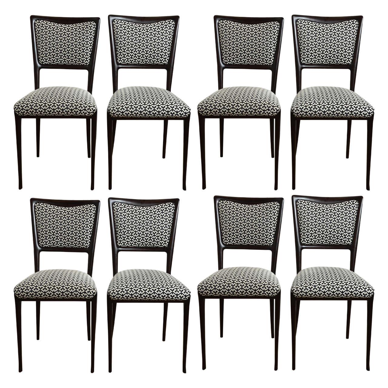Mid Century Italian Vittorio Dassi Dining Chairs Set Of