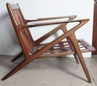 Pair Poul Jensen Selig Z Chairs at 1stdibs