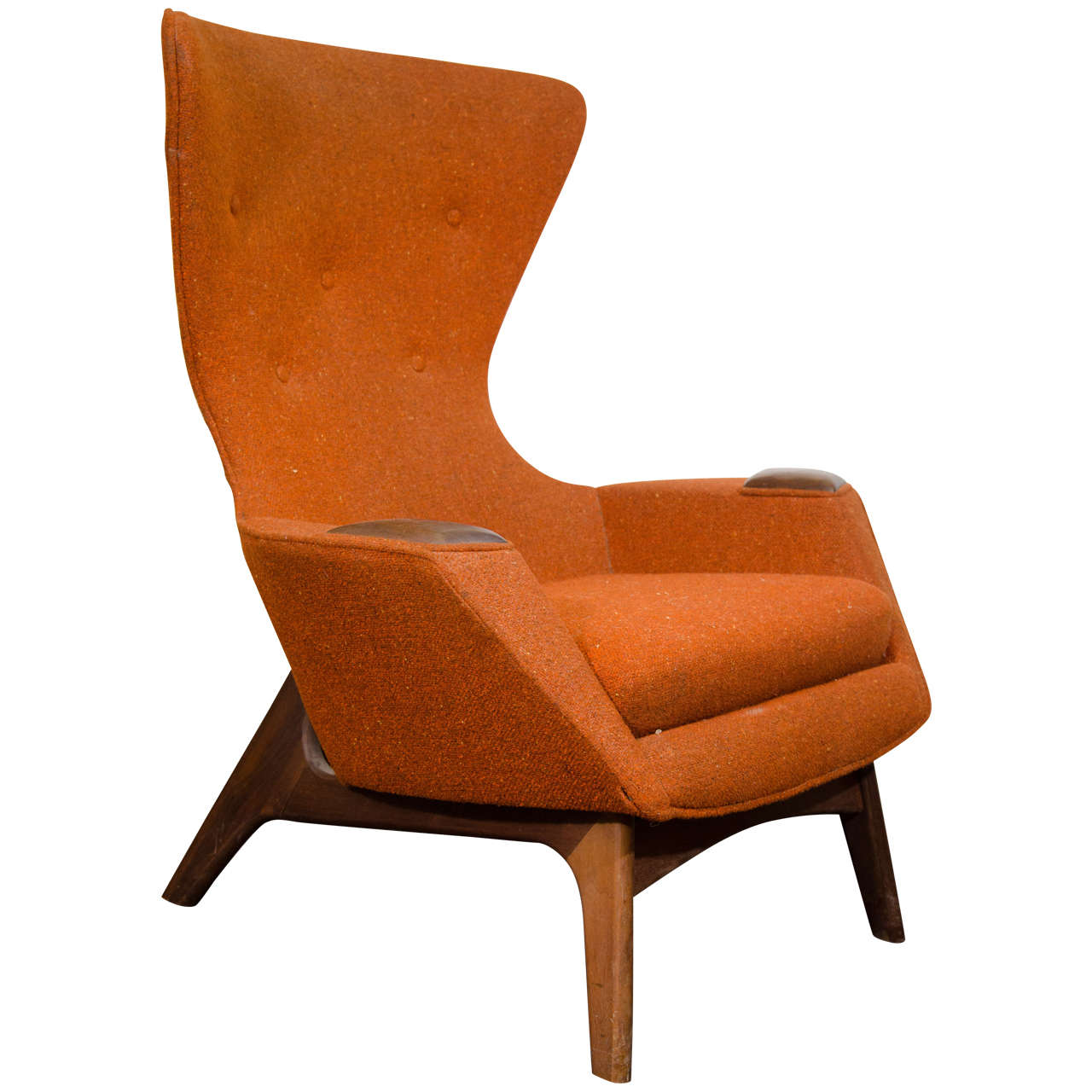 Modern Wing Chair Midcentury High Back Wing Chair By Adrian Pearsall At 1stdibs