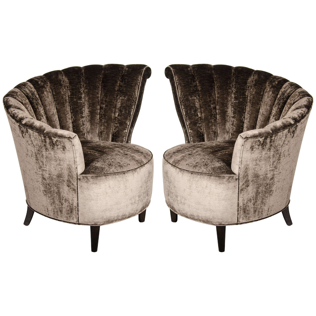 Fan Back Chair Glamorous Pair Of 1940 39s Asymmetrical Fan Back Chairs In
