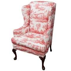 Queen Anne Style Chairs Exercise Chair On Tv Wing At 1stdibs