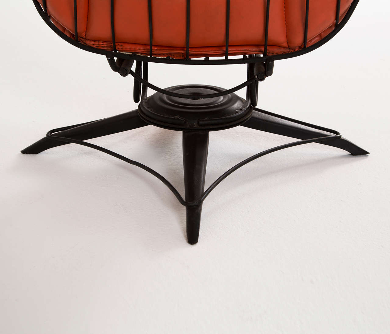 Black Wire Chair Black Wire Metal Rocking Chair With Original Upholstery At