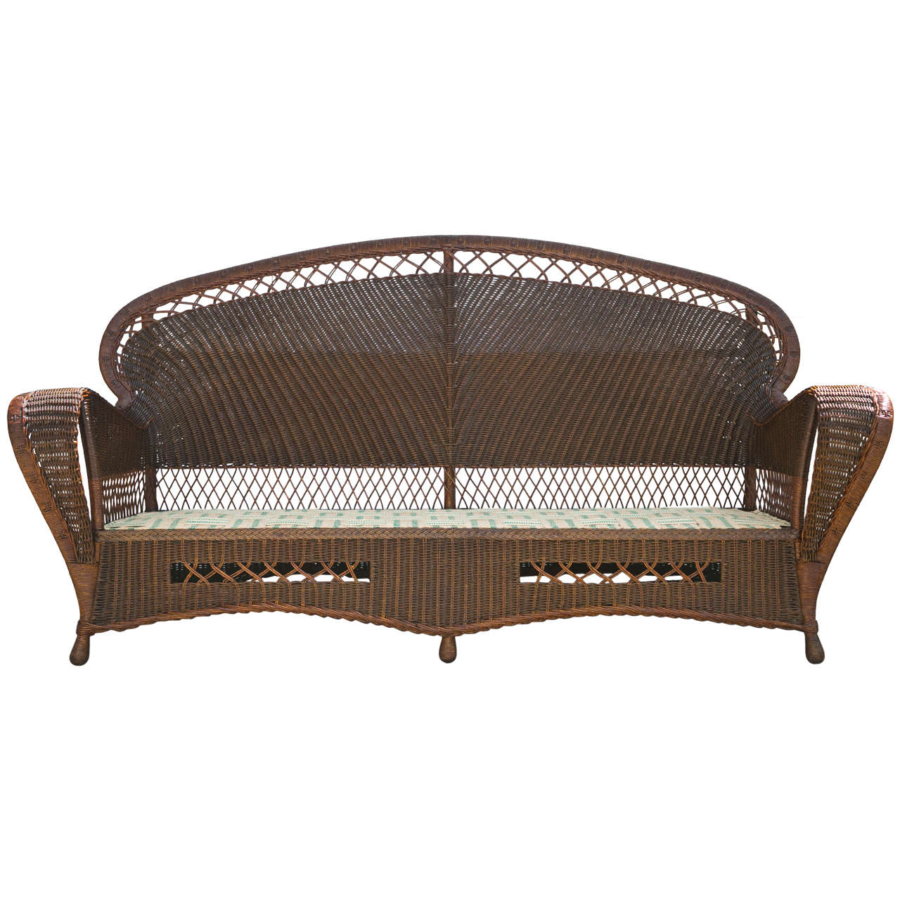 antique wicker chairs one and a half chair canada sofa at 1stdibs