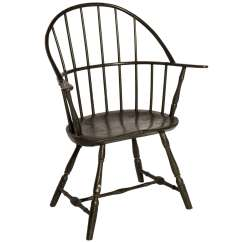 Diy Painted Windsor Chairs Mamas And Papas High Chair Seat Cover Rare American At 1stdibs