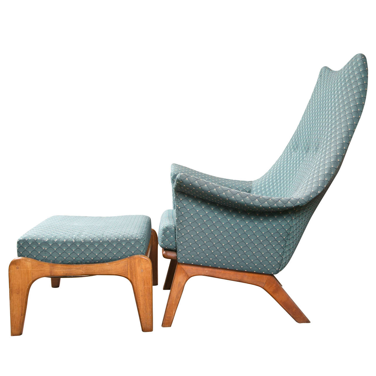 adrian pearsall lounge chair bariatric shower australia danish modern and stool at