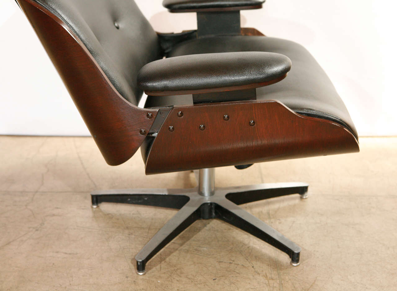 selig eames chair office with arms slipcover lounge and ottoman in the style by at