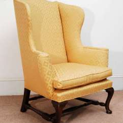 Colonial Wingback Sofas Jedd Fabric Reclining Sectional Sofa Style Wing Back Kittinger Williamsburg Chair At 1stdibs