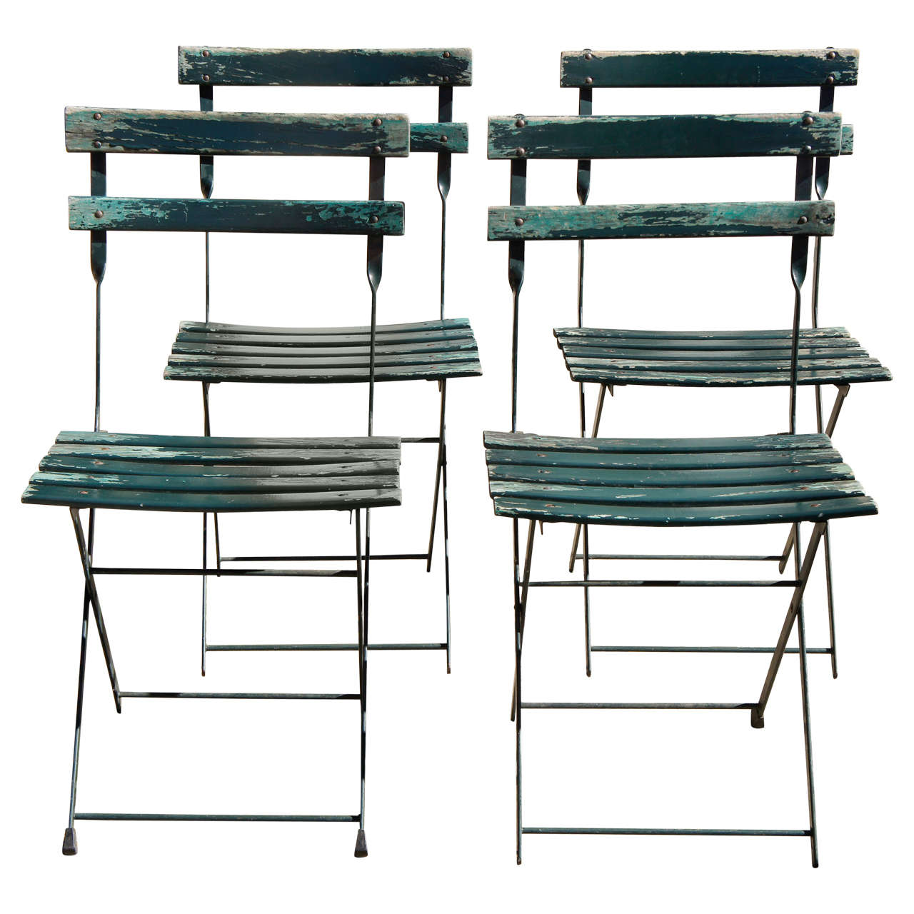 antique french bistro table and chairs wheelchair art a set of four vintage folding at 1stdibs