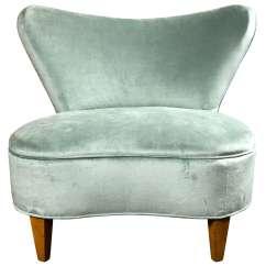 Modern Slipper Chair Wegner Circle Mid Century
