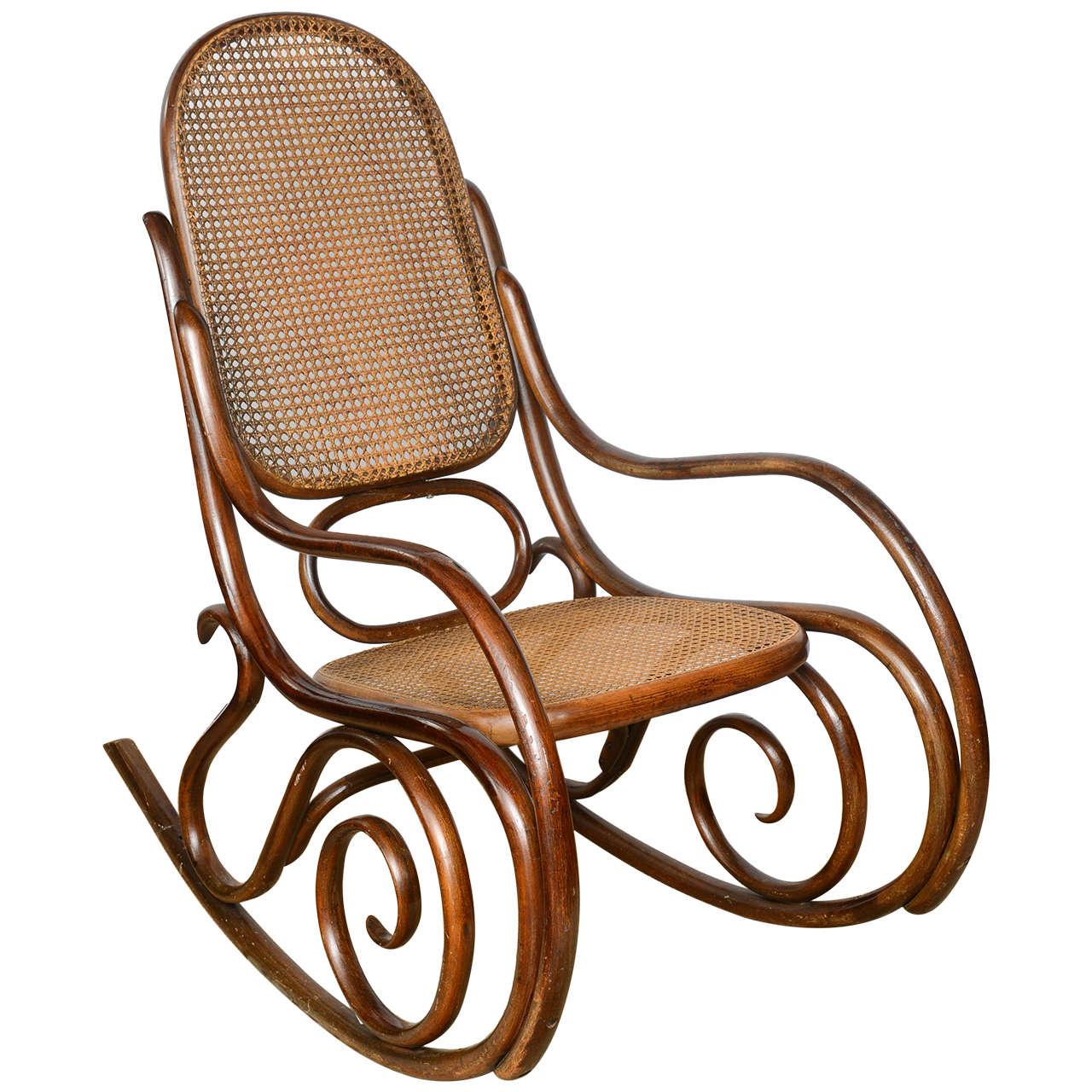bent wood rocking chair twin 1 2 sleeper vintage thonet bentwood at 1stdibs
