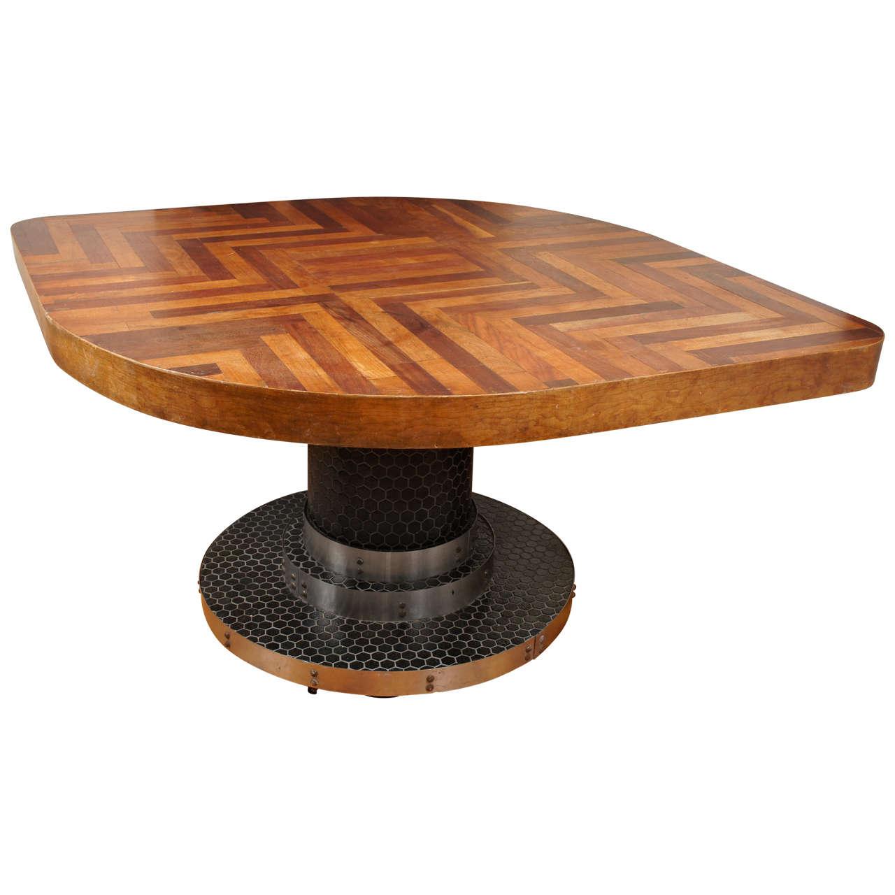 weird shaped chairs chair cover rentals fairfax va unusual diamond wood table at 1stdibs