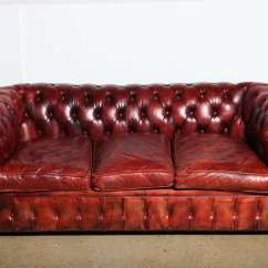 Red Leather Sleeper Sofa Bed Bath And Beyond Mahogany Chesterfield