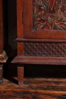 Antique Carved Teak Java Cabinet 1stdibs