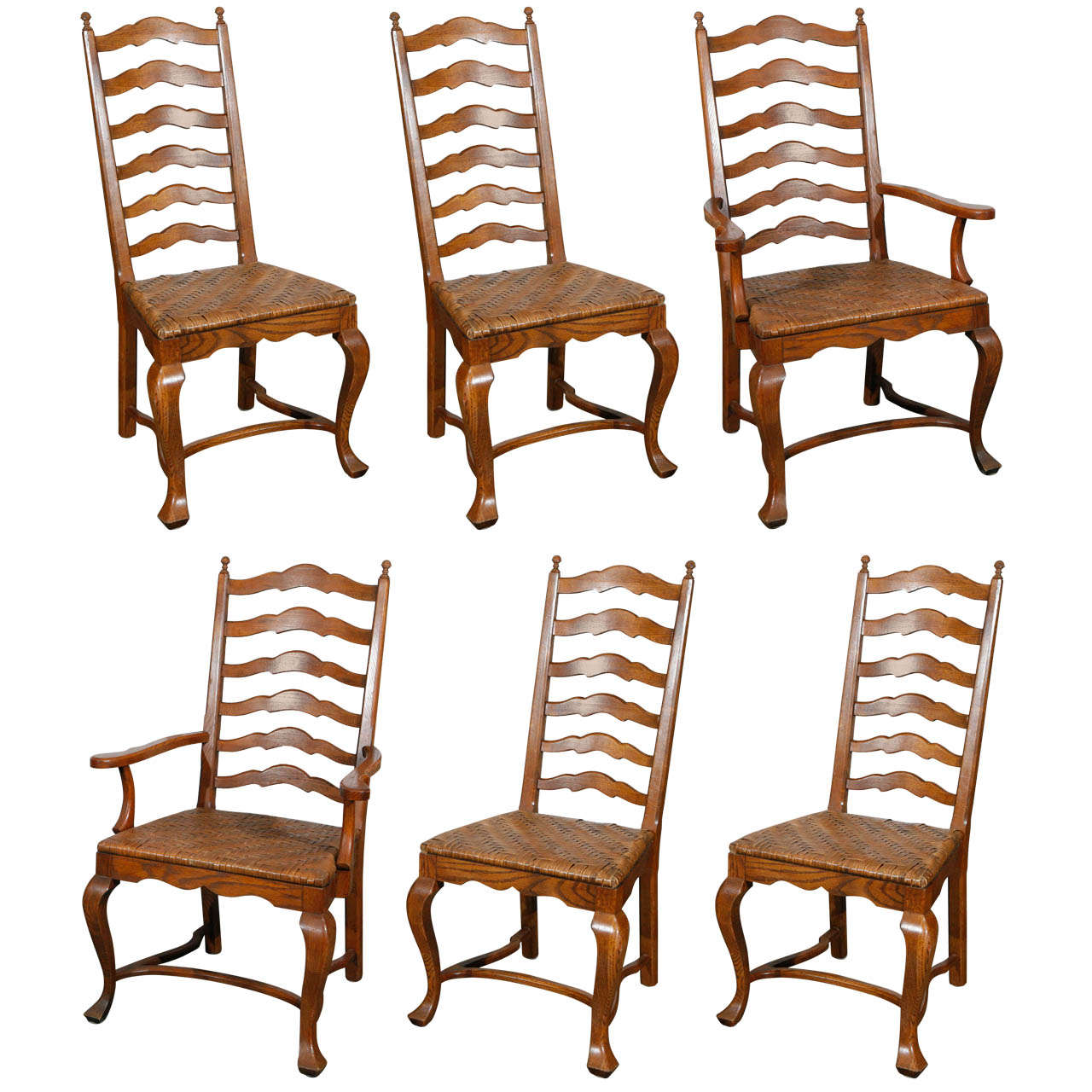 antique ladder back chairs value directors chair canvas replacement covers set of 6 oak dining at 1stdibs