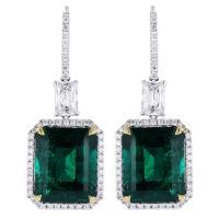 Striking 18.83ctw Colombian Emerald Earrings at 1stdibs