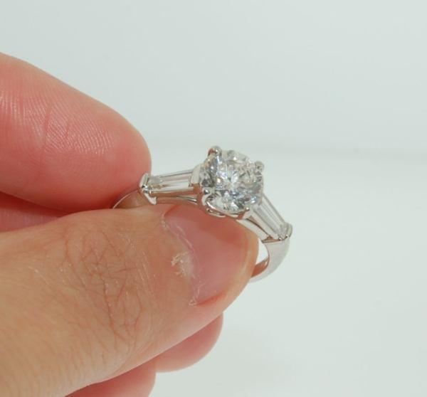 Cartier Platinum 2.16 Tcw Diamond Engagement Ring 1stdibs