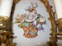 Italian Porcelain Flowers Basket Capodimonte Sconces at ...