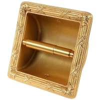 Sherle Wagner 22K Gold Plated Toilet Tissue Wall Recessed ...