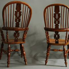Wooden Chairs With Arms India Unique Dining Pair Of Broad Arm Burr Yew Wood High Back Windsor