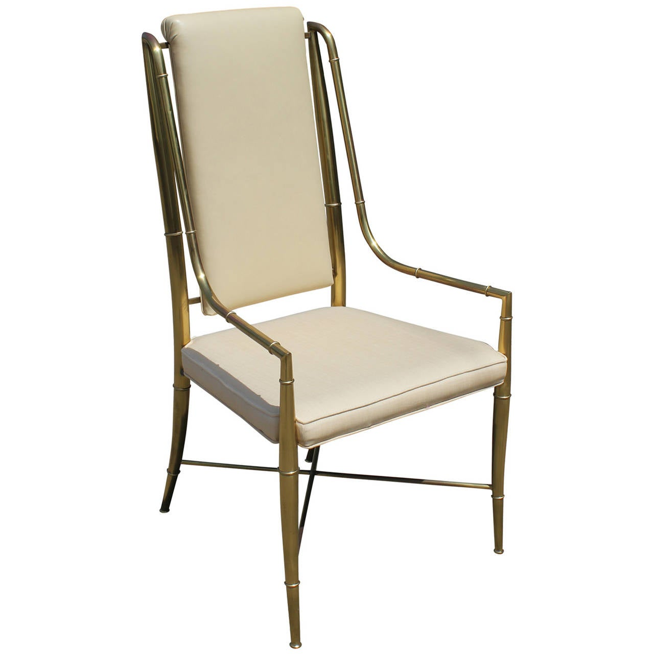 bamboo dining chair chairsupply set of eight mastercraft brass faux chairs