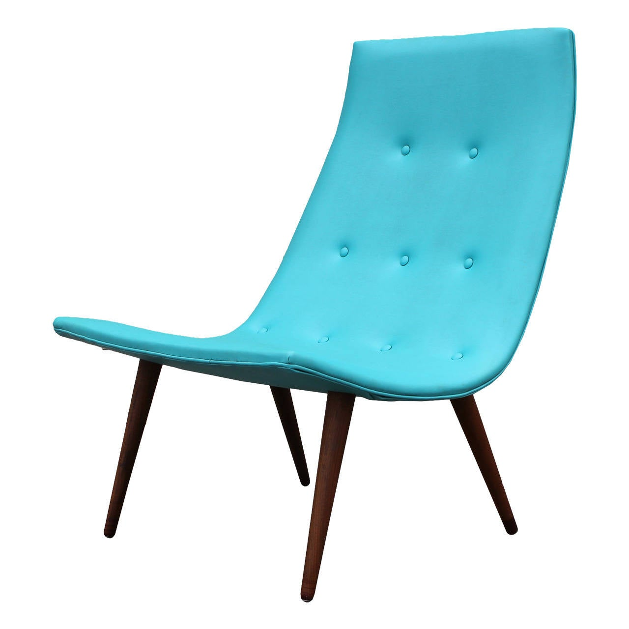 Ultra Thin Turquoise Scoop Chair at 1stdibs