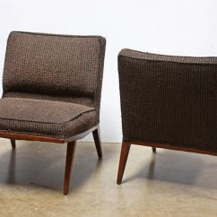 Brown Slipper Chair Best Chairs For Posture Pair Of Lounge Or Attributed To Paul Mccobb