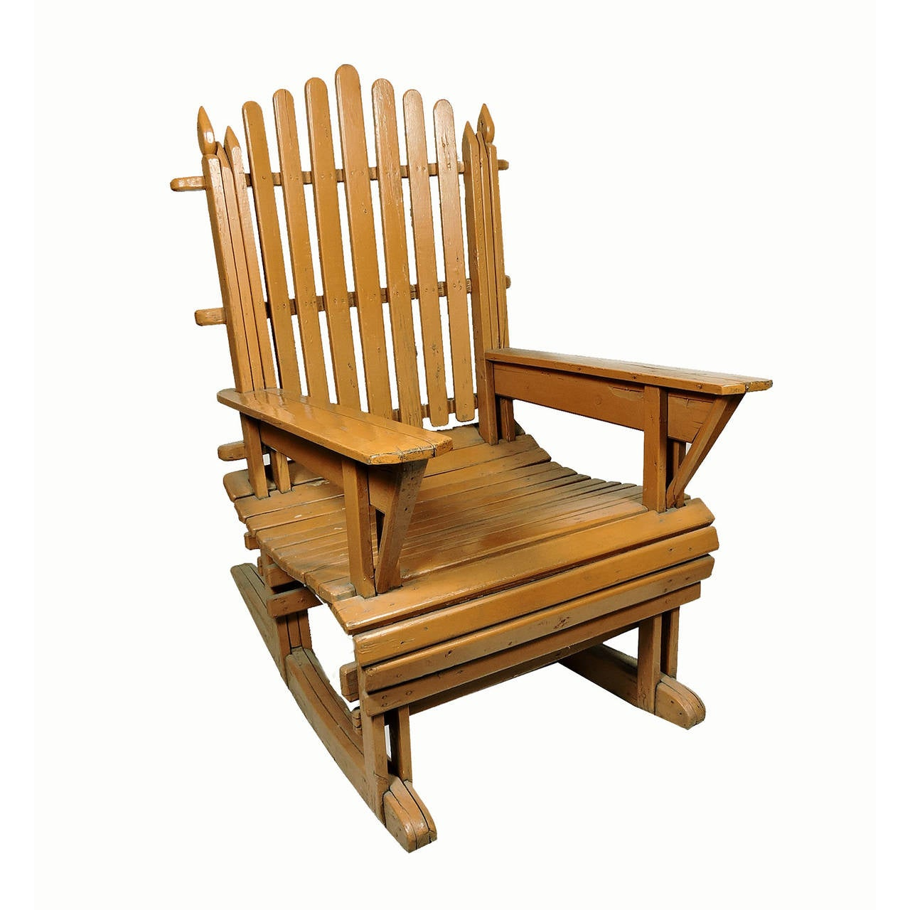 paint for adirondack chairs chair cover rental paterson nj pair of vintage painted wood rocking at