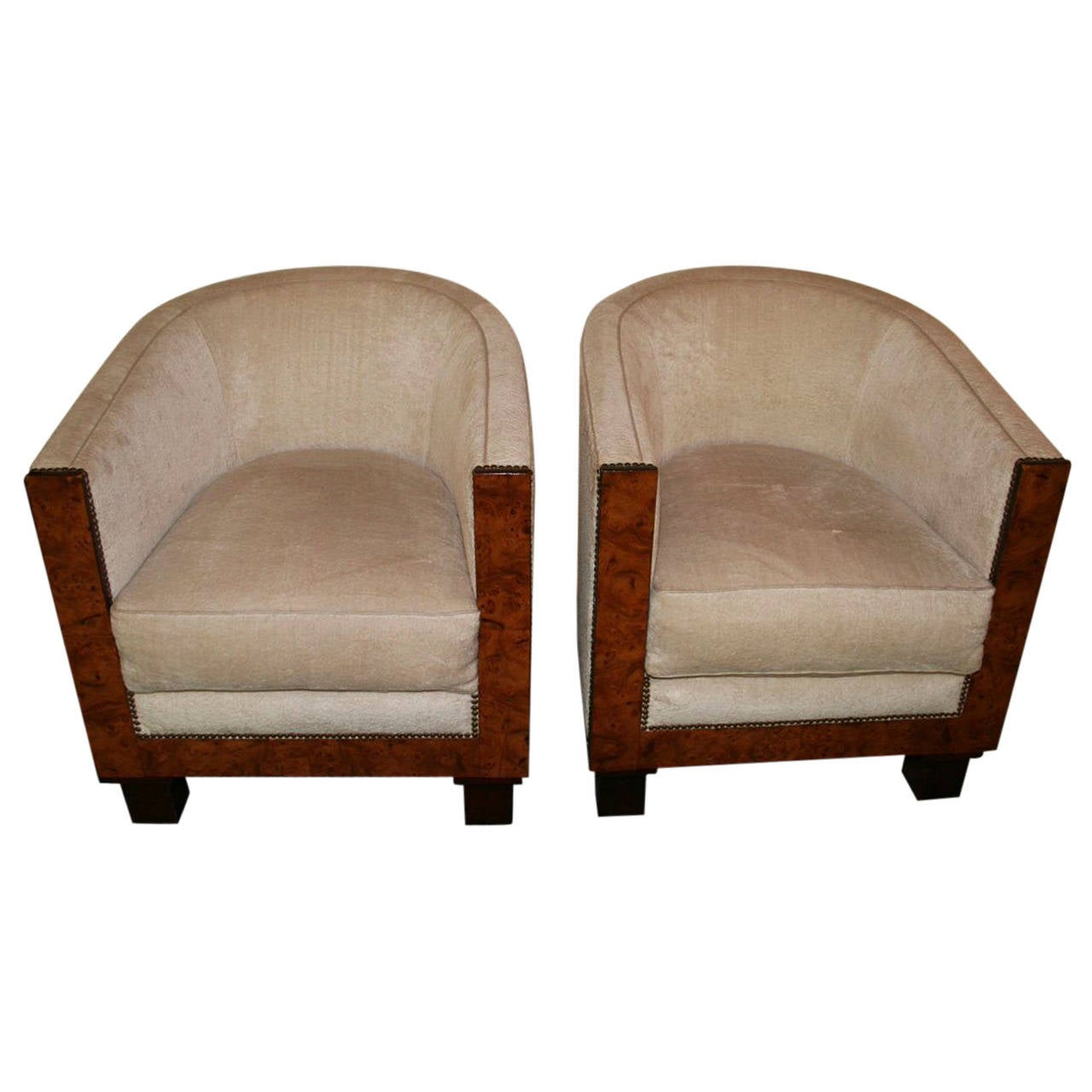 french barrel chair black resin chairs pair of 1930s art deco at 1stdibs
