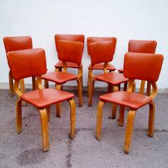 Bentwood Dining Chair Wedding Covers With Arms Uk Original 1940 Thonet Chairs Set Of Eight