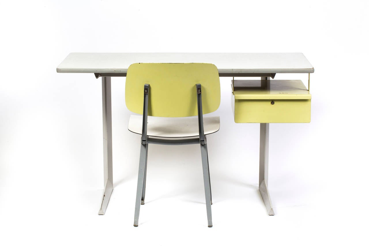 teacher table and chair eero saarinen womb original desk revolt by friso kramer at 1stdibs
