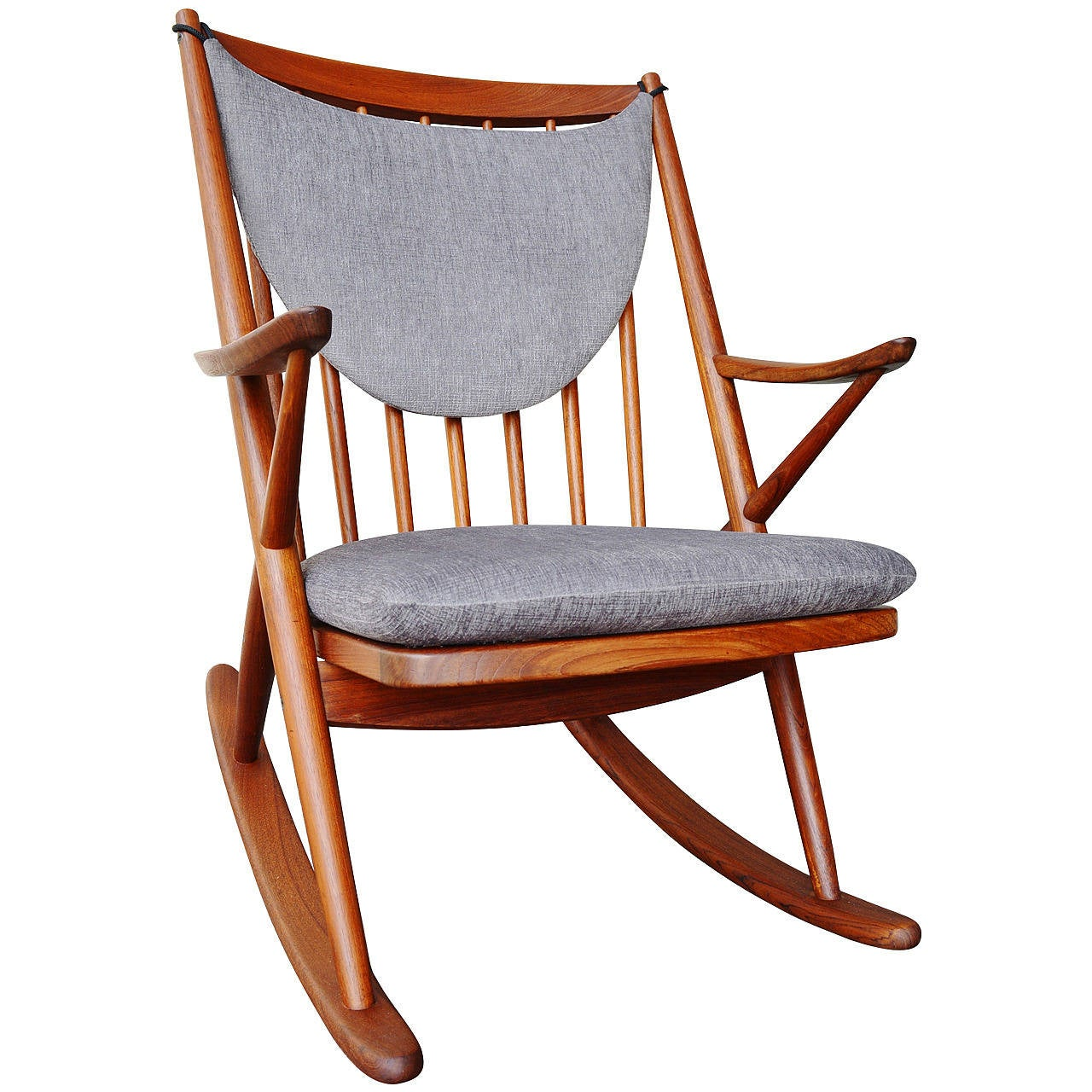mid century modern rocking chair canada comfortable living room danish teak by frank reenskaug for
