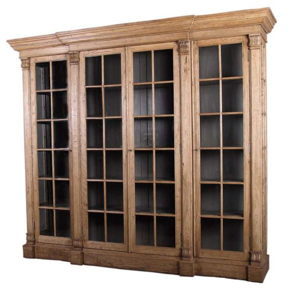 Bookcase with Glass Front Doors