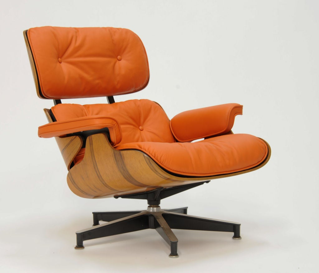 Orange Lounge Chair Eames 670 And 671 Lounge Chair In Quothermes Quot Orange Leather
