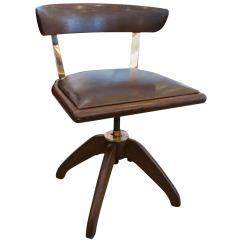 Desk Chair Utm Ikea Pello Single Oak Bronze And Leather At 1stdibs