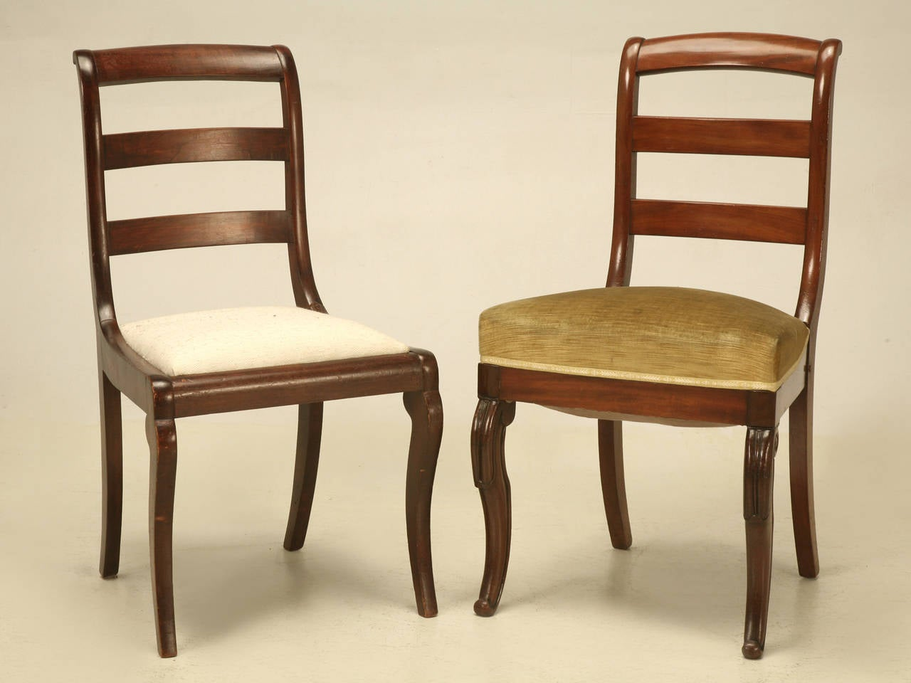 antique ladder back chairs value wood rocking chair set of six french vintage side at 1stdibs