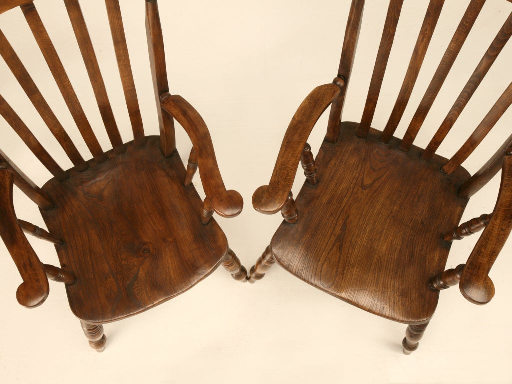 antique windsor chair identification office manufacturer magnificent pair of comb back arm chairs