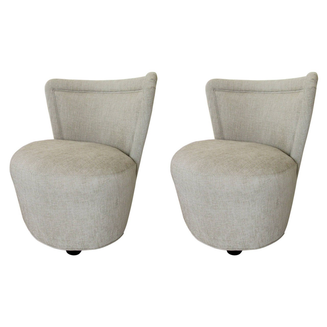sofas and stuff alton doll patchwork sofa dfs pair of morris lapidus upholstered chairs at 1stdibs