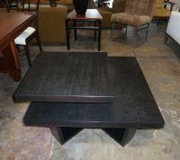 Mid-Century Two-Tier End Table in Ebonized Cerused Oak by ...