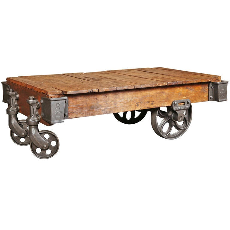 Vintage Industrial, Lineberry Cartcoffee Table At 1stdibs