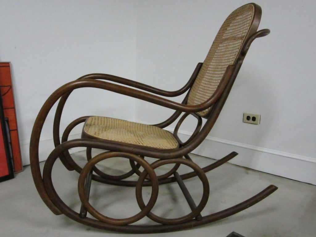 bent wood rocking chair hanging bedroom bentwood by thonet at 1stdibs