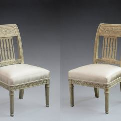 Bonnie Cream Slipper Chair Folding Lightweight Pair Of Directoire Painted Chairs At 1stdibs