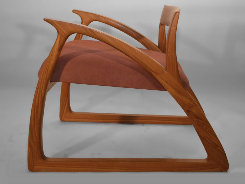wood hand chair covers in calgary studio made crafted arm lounge at 1stdibs