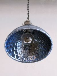 Blue Mercury Glass Pendant Lights at 1stdibs