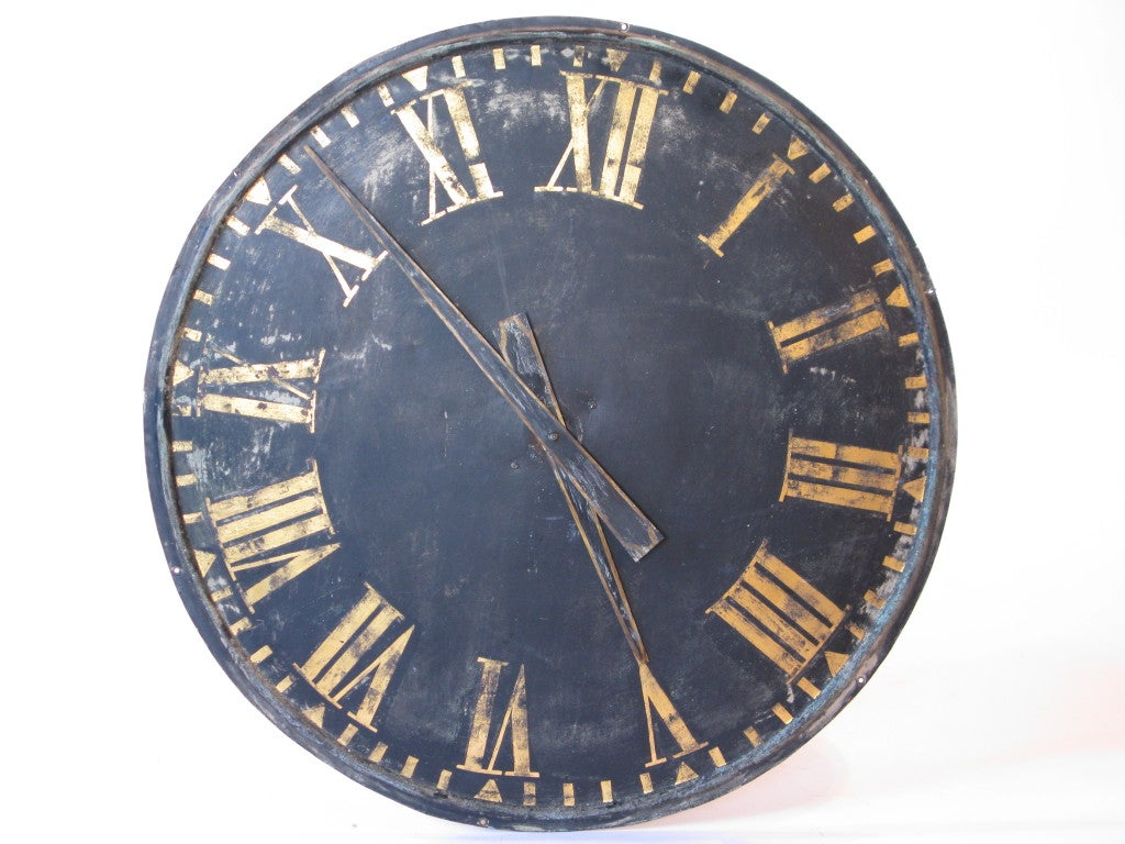 Large Roman Numeral Clock At 1stdibs