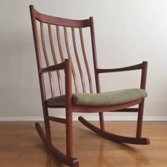 Hans Wegner Rocking Chair Chrome Kitchen Chairs Teak At 1stdibs