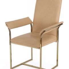 Milo Baughman Dining Chairs Pottery Barn Kids Desk Chair Four Brass At 1stdibs