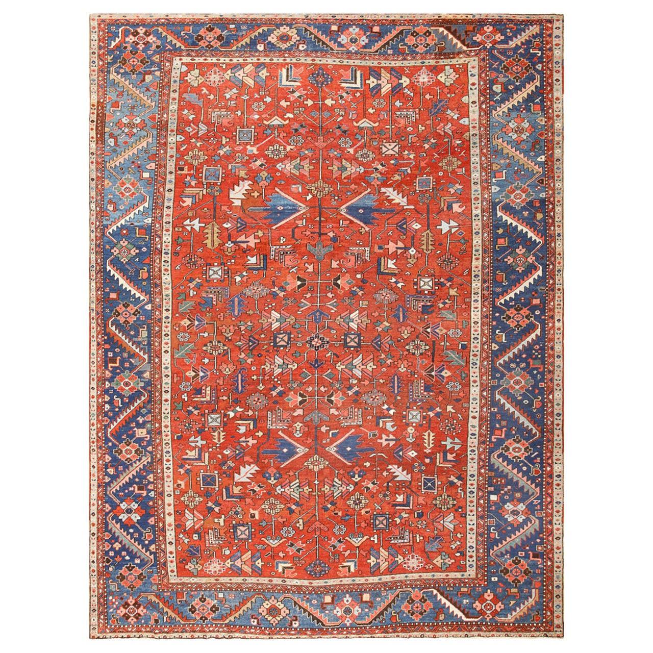 Antique Persian Heriz Serapi Rug at 1stdibs