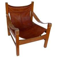 Leather Safari Chair at 1stdibs