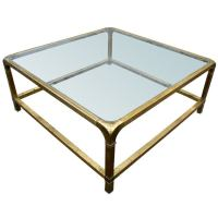Large Mastercraft Rectangular Brass Coffee Table