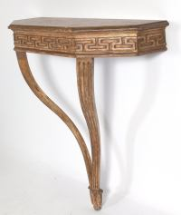 Wall-Mounted Greek Key Console Table at 1stdibs